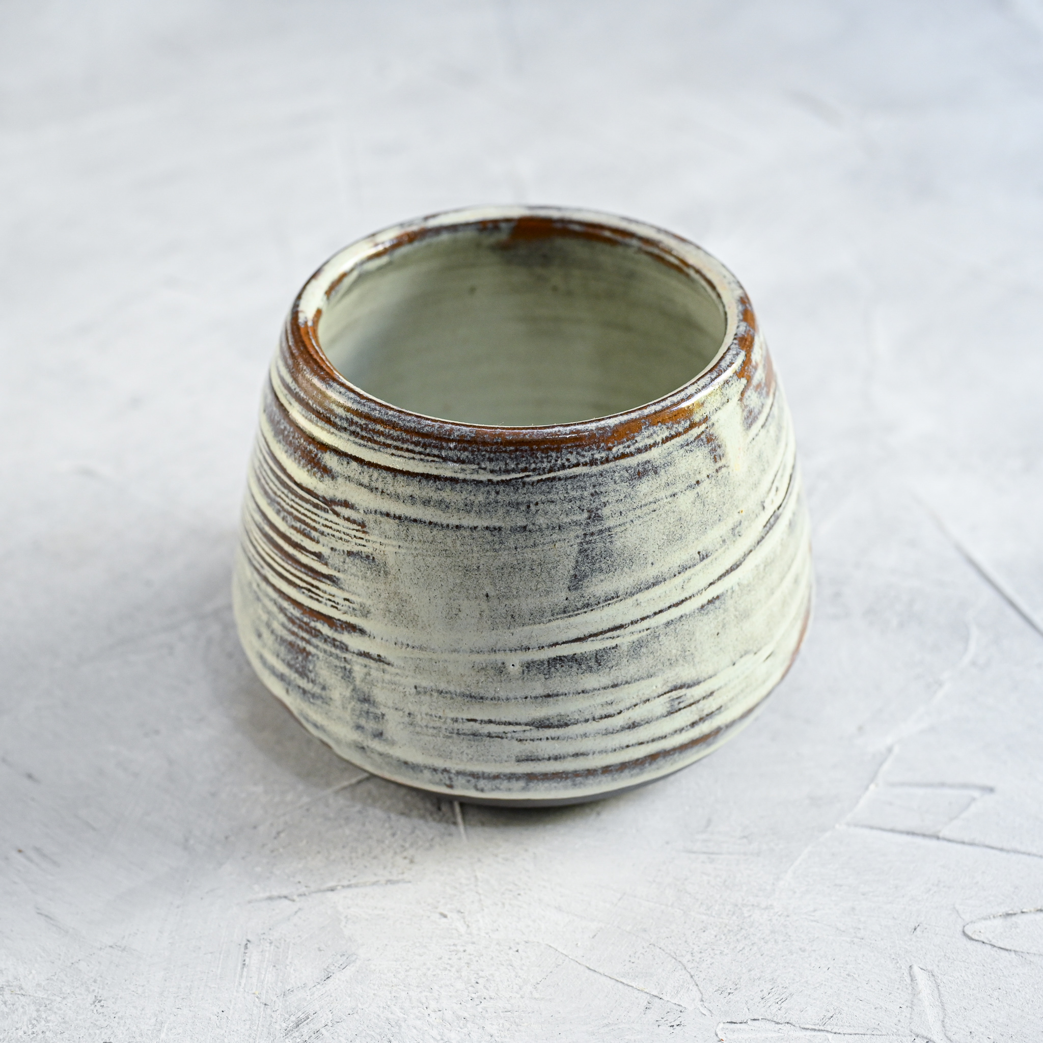 """картинка Низкая керамическая ваза """"Белые ночи"""" - DishWishes.Ru"""