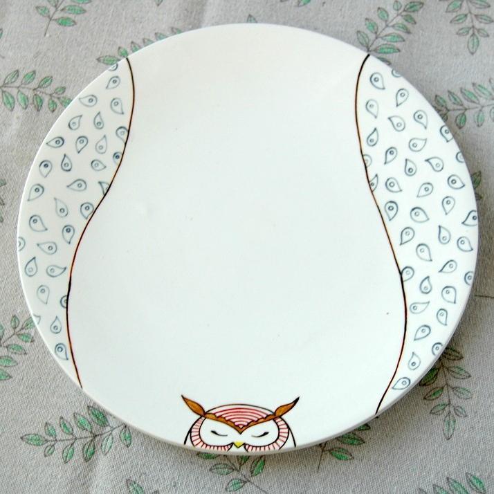 "картинка Тарелка круглая ""Совушка"" - DishWishes.Ru"