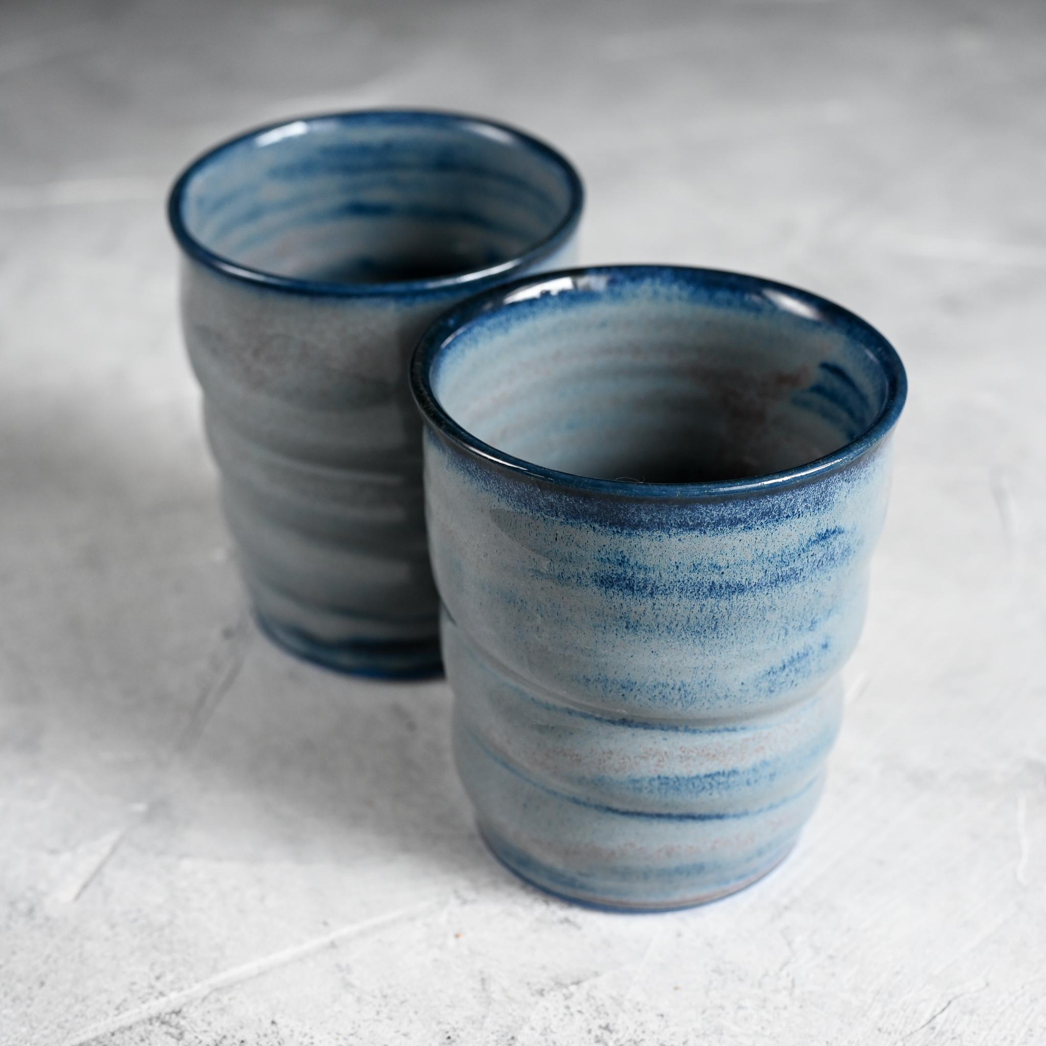 картинка Стакан из синего фарфора лиловый - DishWishes.Ru