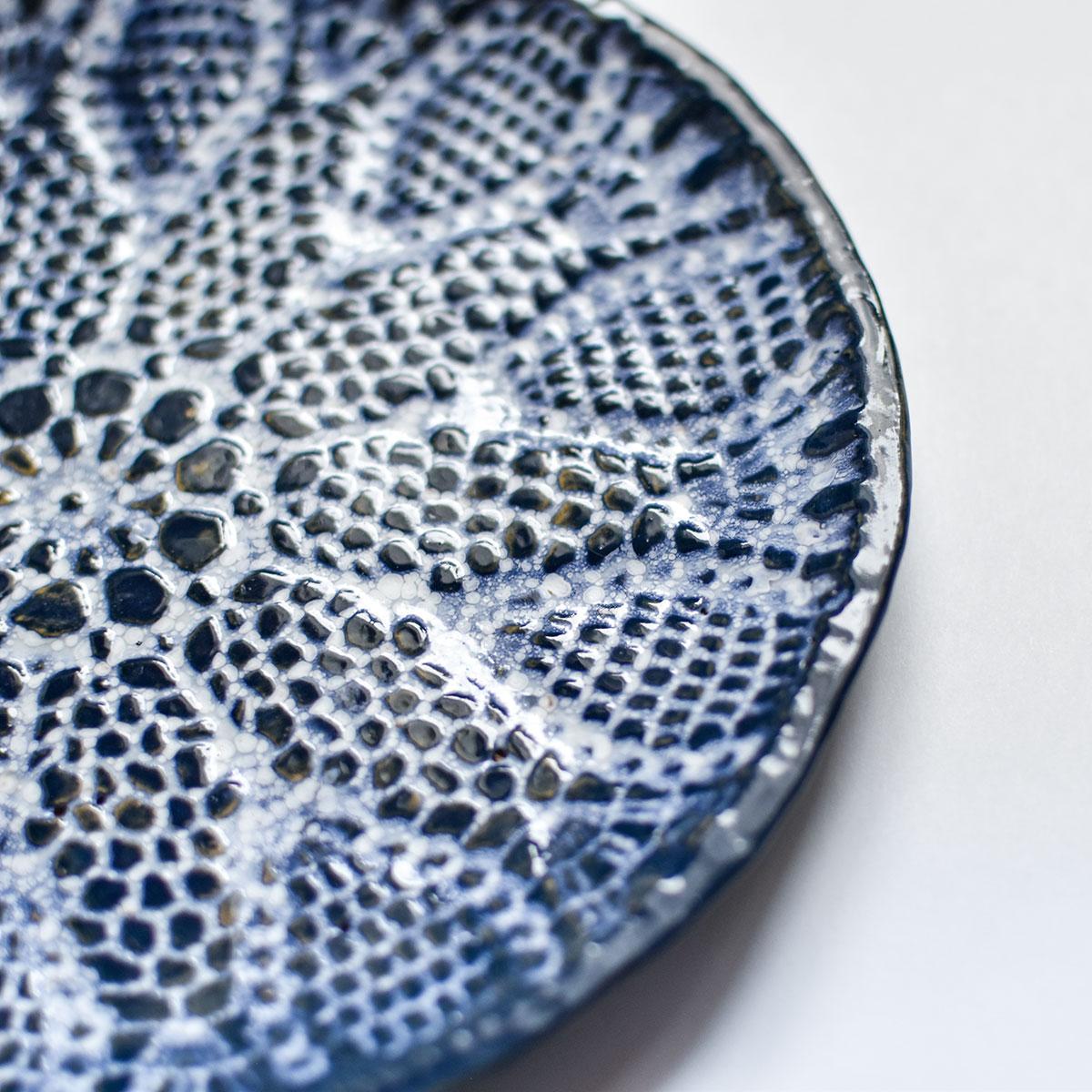 """картинка Керамическая тарелка с кружевом """"Морозные узоры"""" 1 - DishWishes.Ru"""