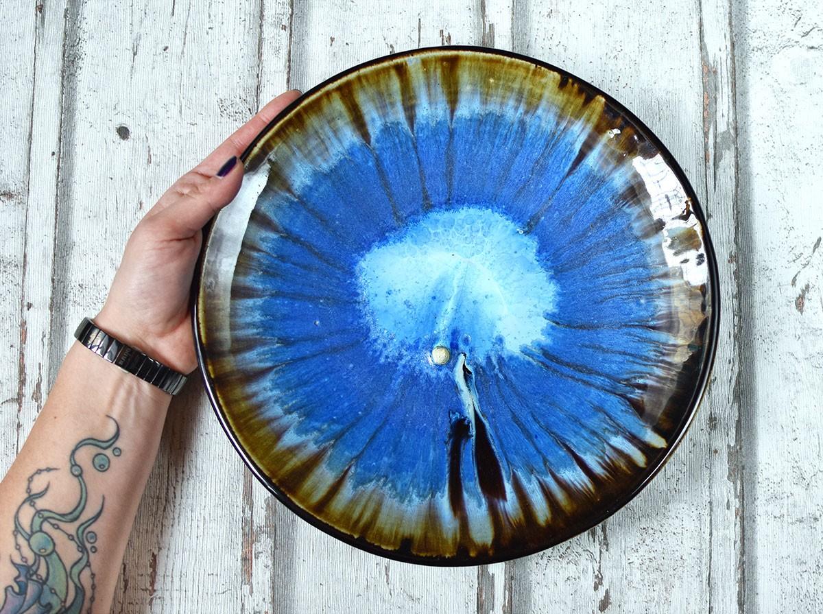 """картинка Большое керамическое блюдо """"Жемчужина"""" - DishWishes.Ru"""