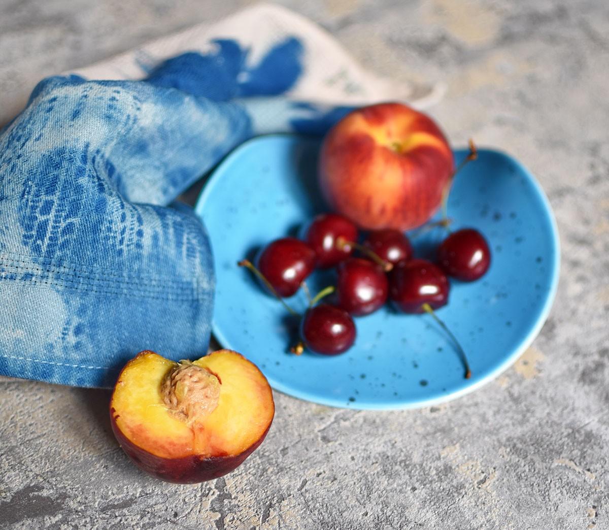"картинка Бутербродная тарелка ""Голубая"" - DishWishes.Ru"