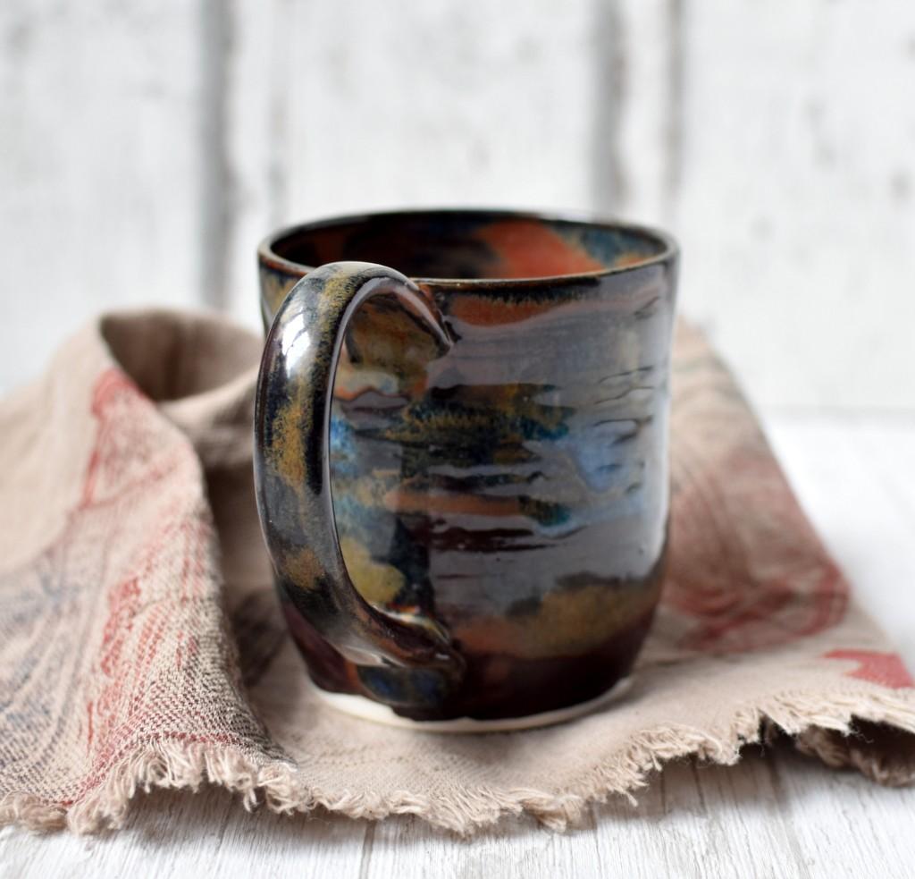 """картинка Чашка ручной работы """"Черная мамба"""" - DishWishes.Ru"""