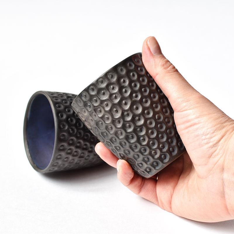 картинка Чернолощеный рельефный стакан - DishWishes.Ru