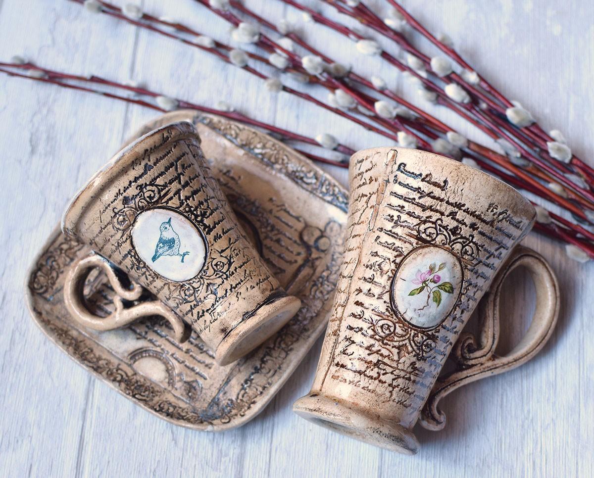 """картинка Кофейная керамическая чашка """"Антик"""" - DishWishes.Ru"""