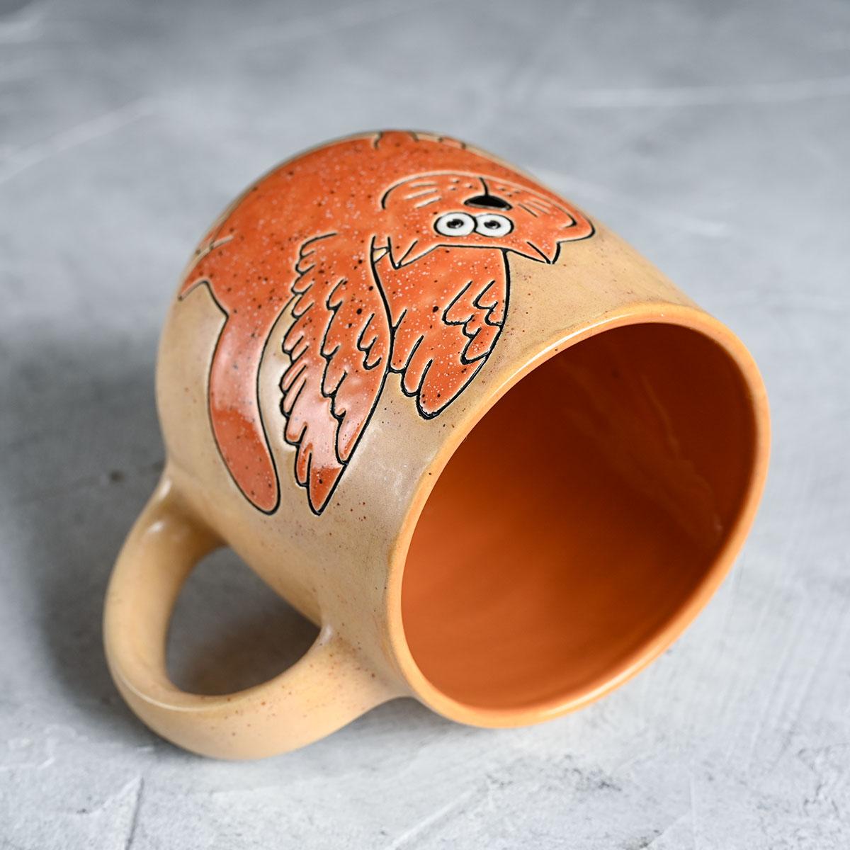 """картинка Кружка """"Оранжевый кот с крыльями""""  - DishWishes.Ru"""
