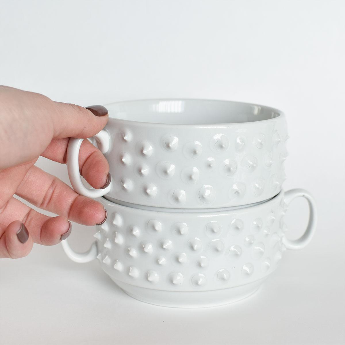 картинка Белая супница с шипами - DishWishes.Ru