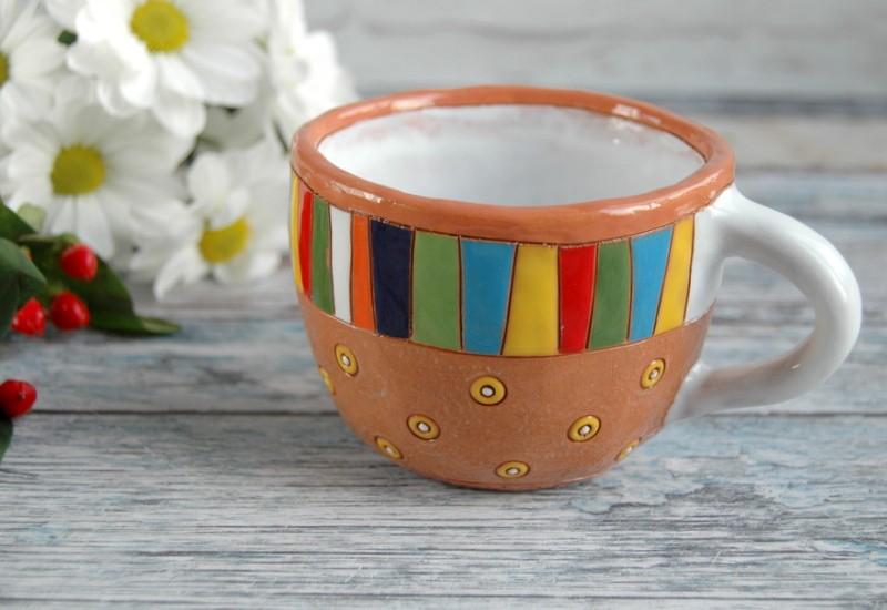 """картинка Керамическая чашка ручной работы """"пряник"""" - DishWishes.Ru"""