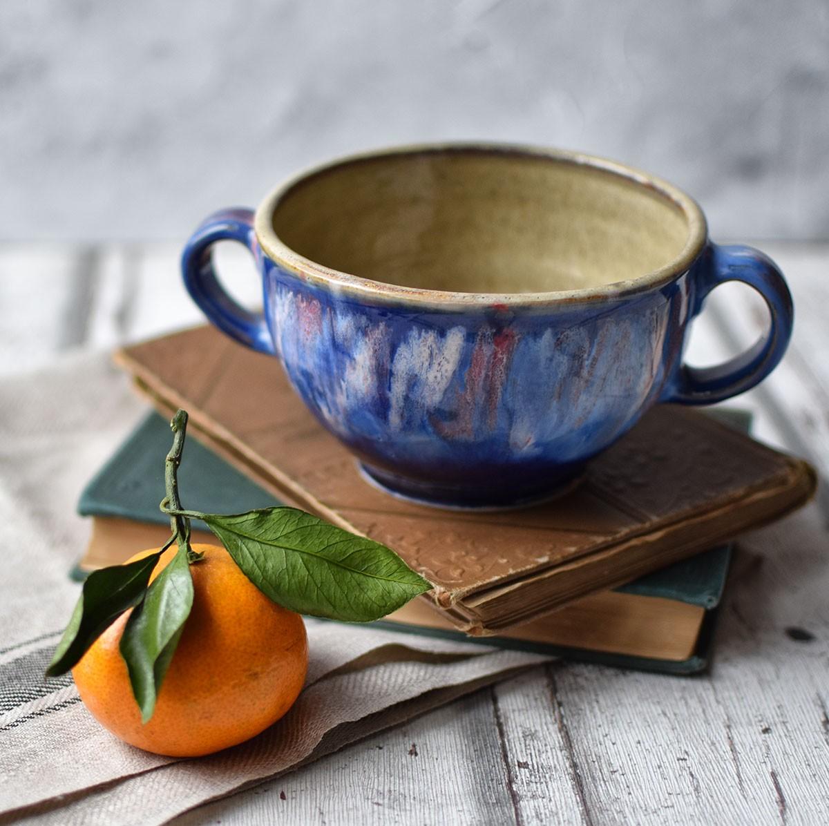 картинка Керамическая чаша для бульона - DishWishes.Ru