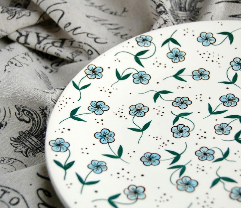"картинка Тарелка с росписью ""Летнее утро"" - DishWishes.Ru"