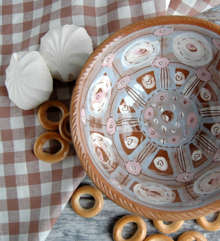 """картинка Керамический салатник ручной работы """"Нежность"""" - DishWishes.Ru"""