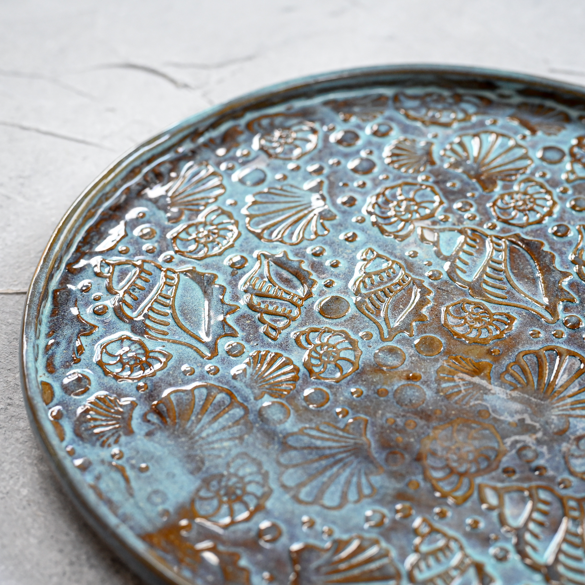 """картинка Керамическая тарелка """"Морское дно"""" 3 - DishWishes.Ru"""