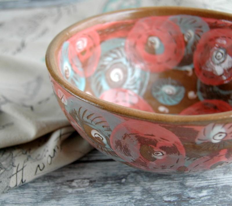 """картинка Керамический салатник ручной работы """"Розы"""" - DishWishes.Ru"""