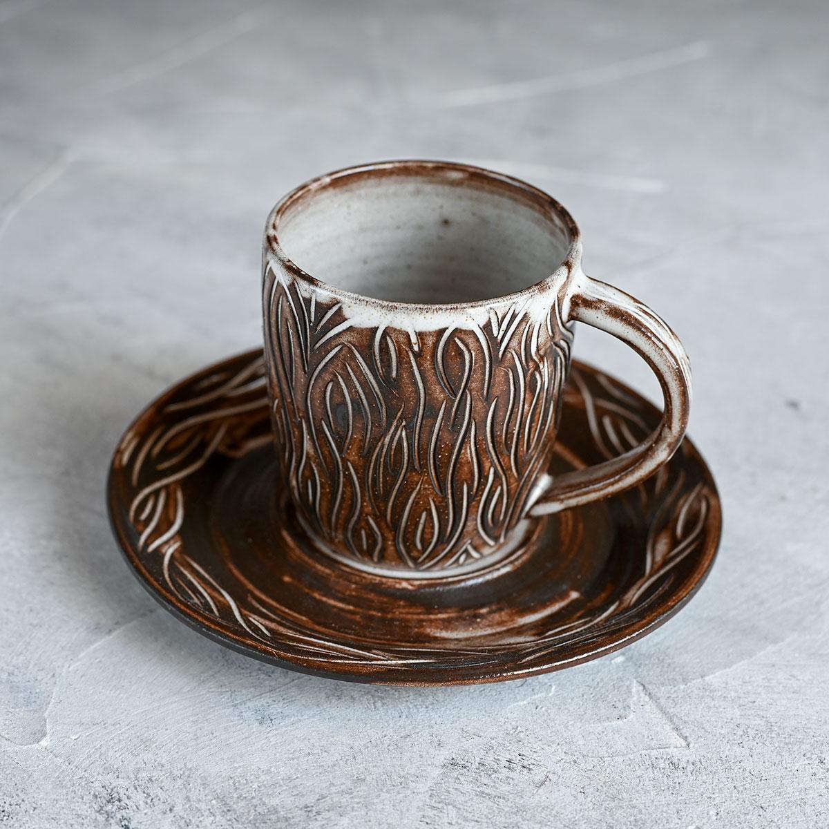 "картинка Чайная пара из серии ""Горький шоколад"" 2 - DishWishes.Ru"