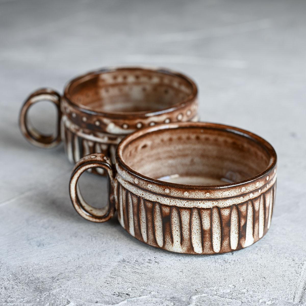 """картинка Пара кофейных чашек из серии """"Горький шоколад"""" 4 - DishWishes.Ru"""