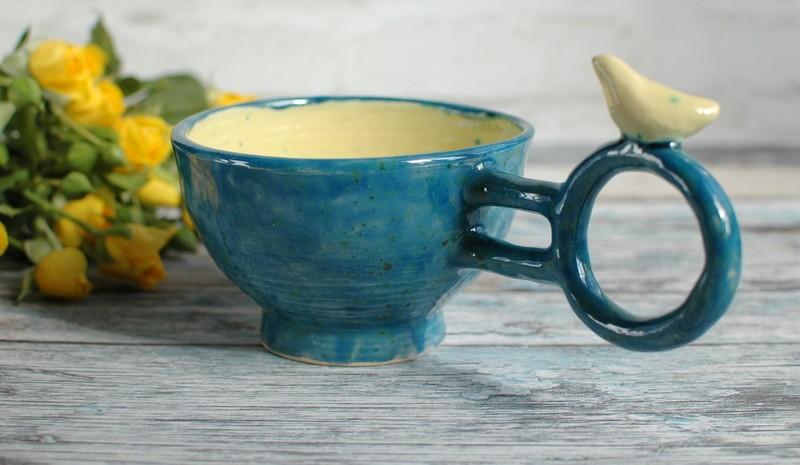 "картинка Чашка с птичкой ""Джунгли"" - DishWishes.Ru"