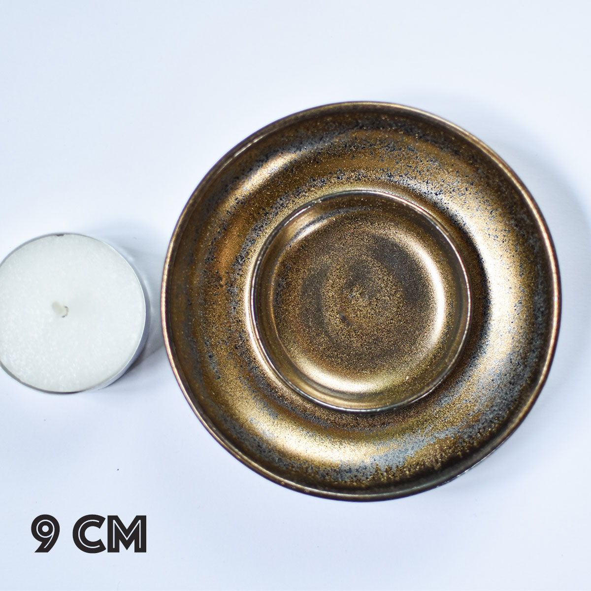 """картинка Керамический подсвечник для свечи """"Металлик"""" - DishWishes.Ru"""