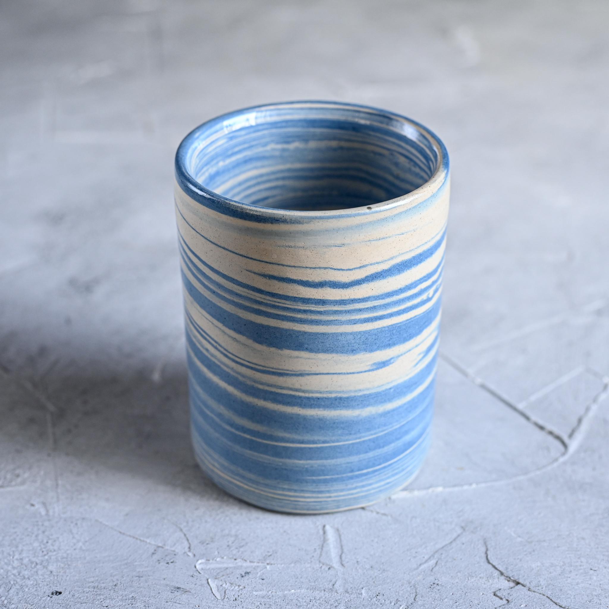 картинка Керамический стакан в технике нерияге 3 - DishWishes.Ru