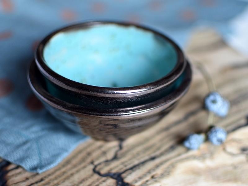картинка Керамическая розетка бирюзовая - DishWishes.Ru