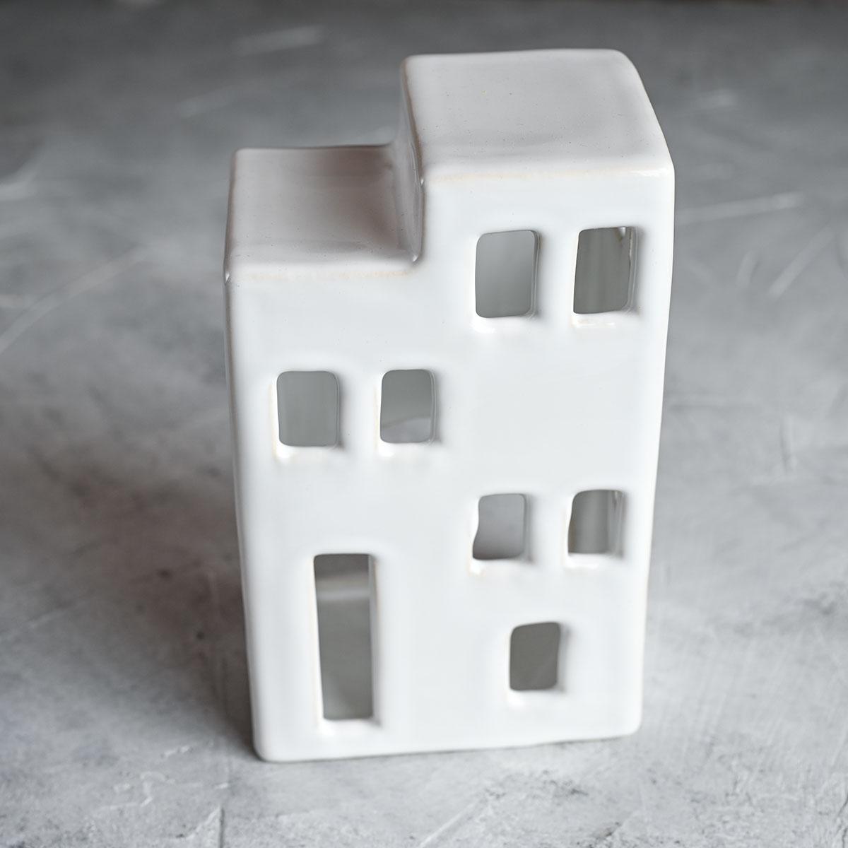 """картинка Керамический подсвечник """"Дом"""" многоэтажка - DishWishes.Ru"""