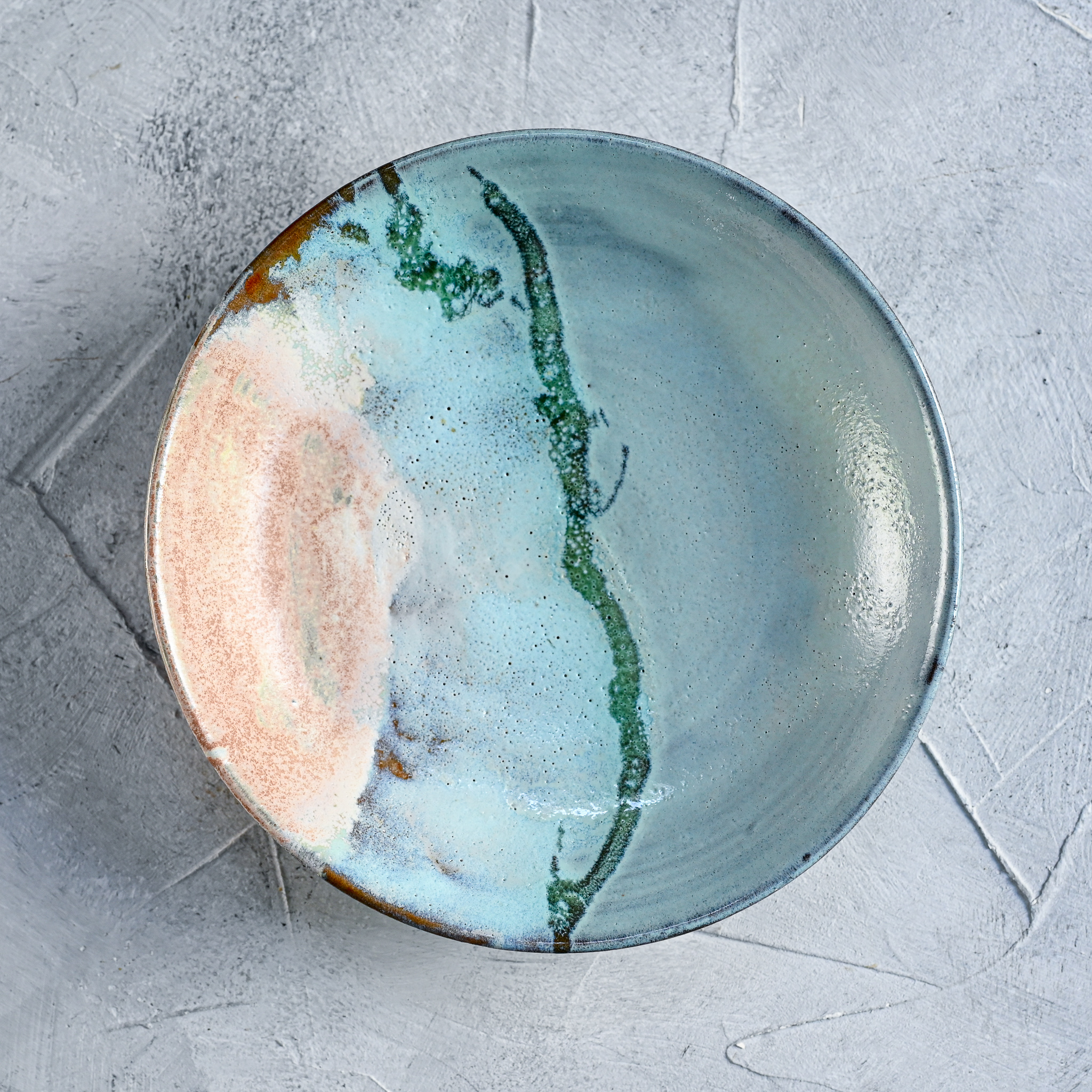 """картинка Тарелка из серии """"Япония"""" - море 1 - DishWishes.Ru"""
