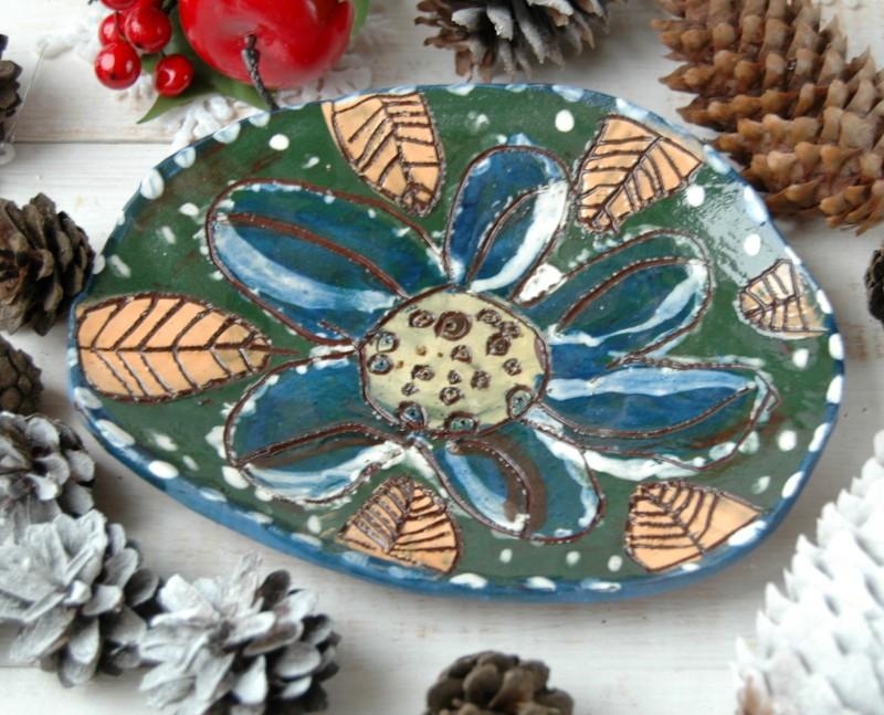 картинка Тарелочка с цветком - DishWishes.Ru