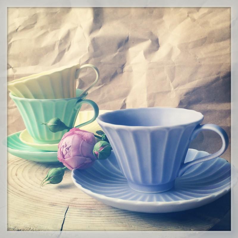 картинка Чашка с блюдцем - DishWishes.Ru