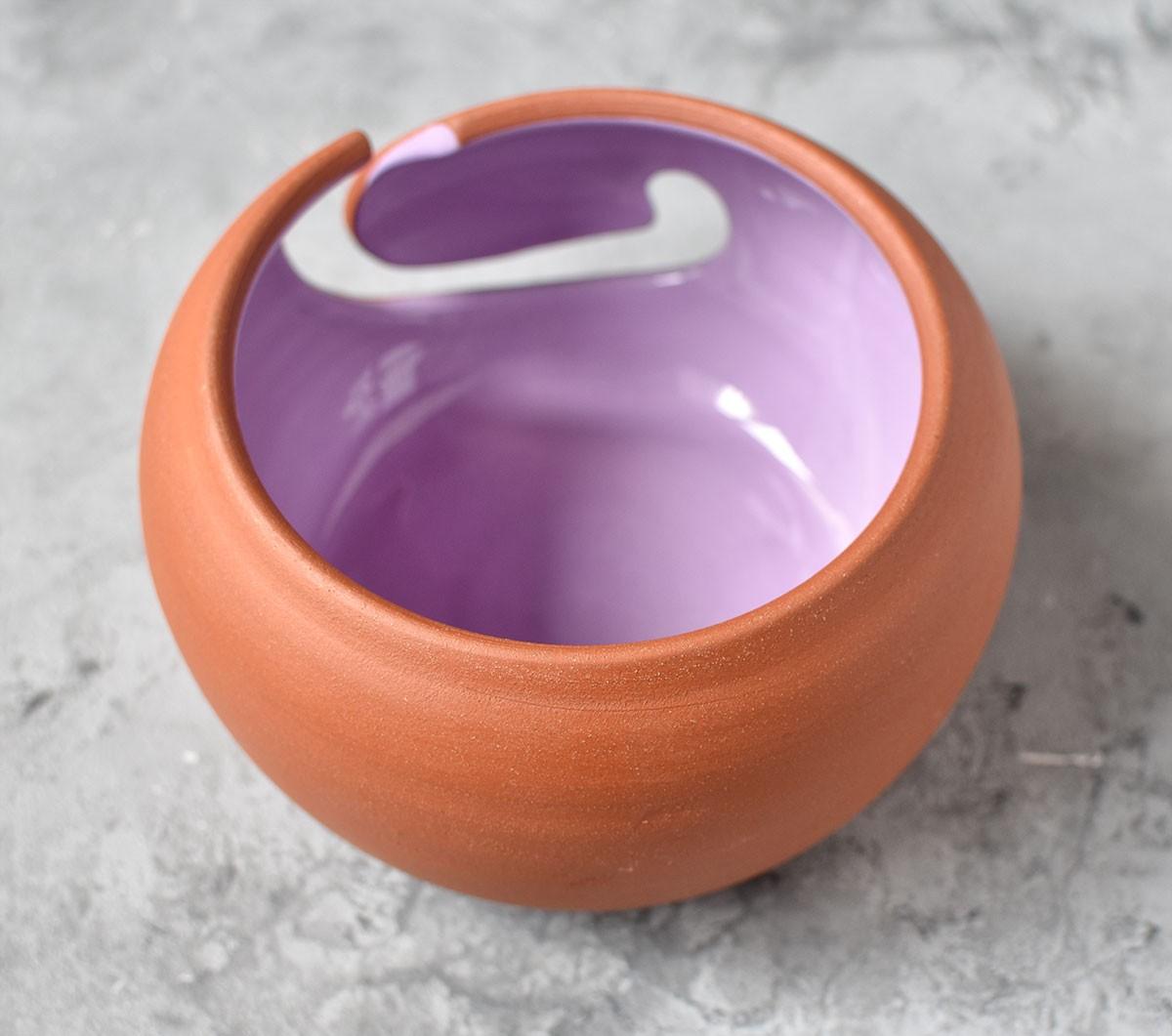 картинка Керамическая клубочница из красной глины - DishWishes.Ru