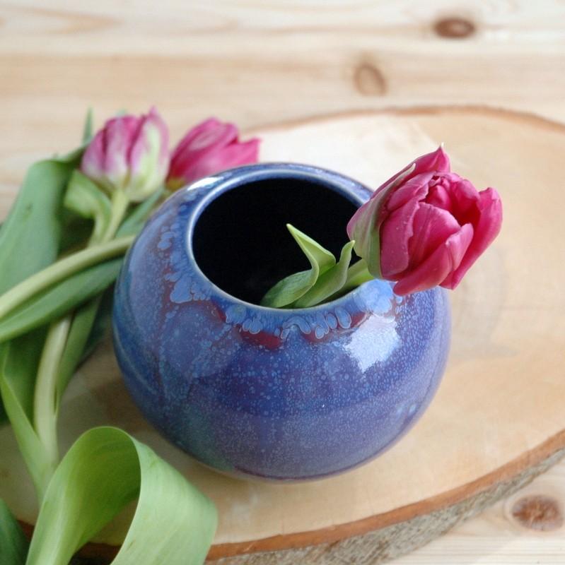 картинка Пурпурно-фиолетовая ваза-шар - DishWishes.Ru