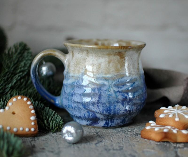 """картинка Чашка ручной работы """"Море и песок"""" - DishWishes.Ru"""