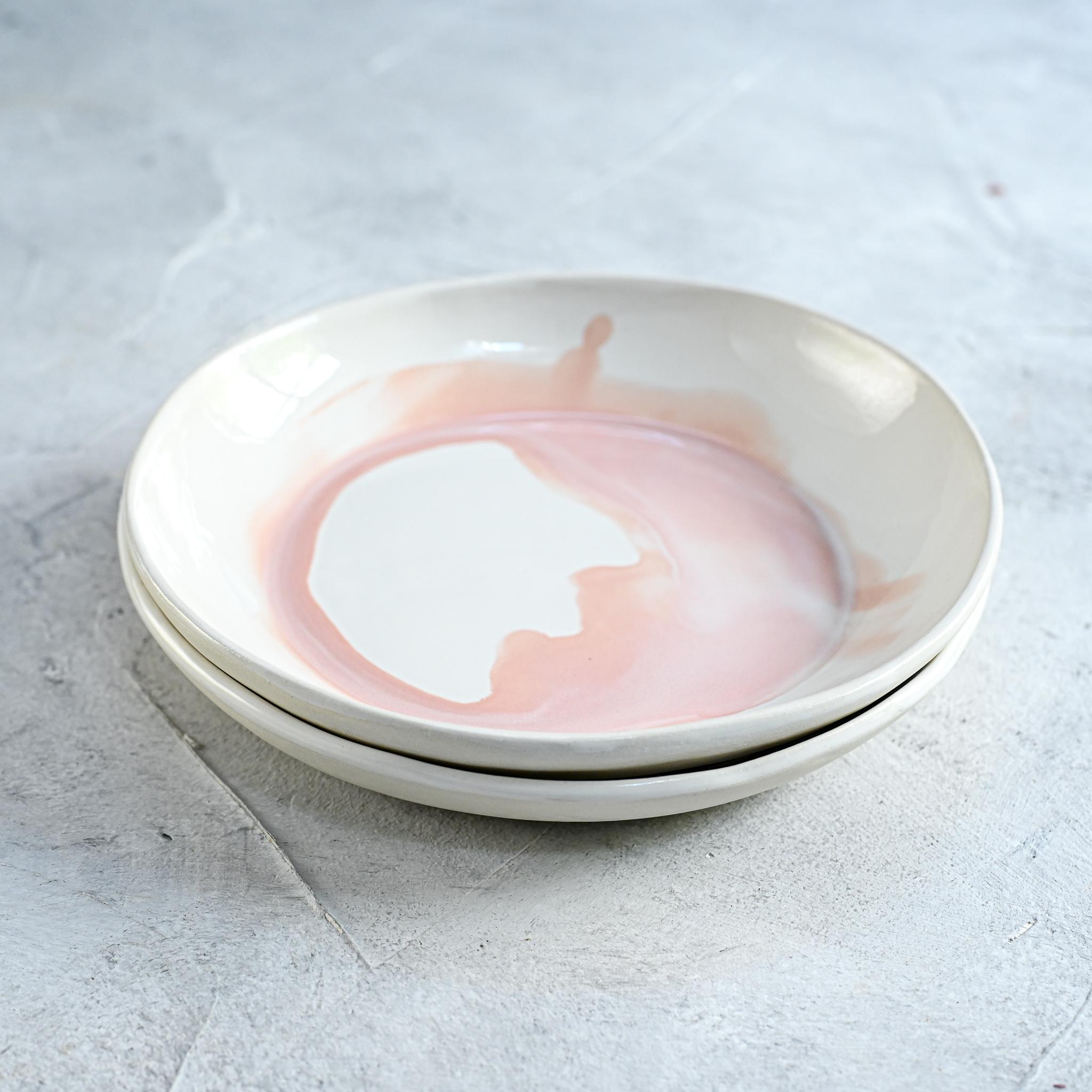 """картинка Керамическая тарелка """"Розовые облака"""" малая - DishWishes.Ru"""