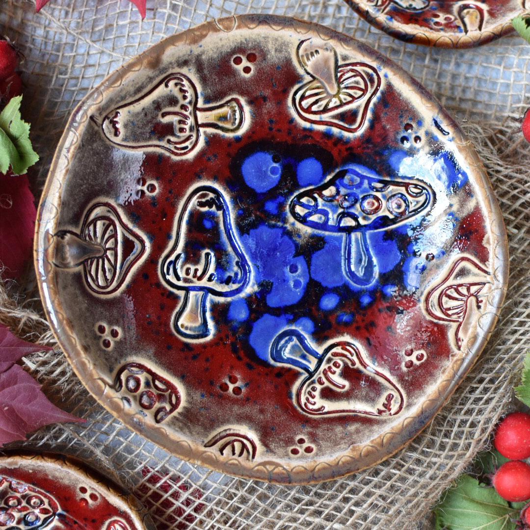 """картинка Набор из трех тарелок """"Мухоморы"""" - DishWishes.Ru"""