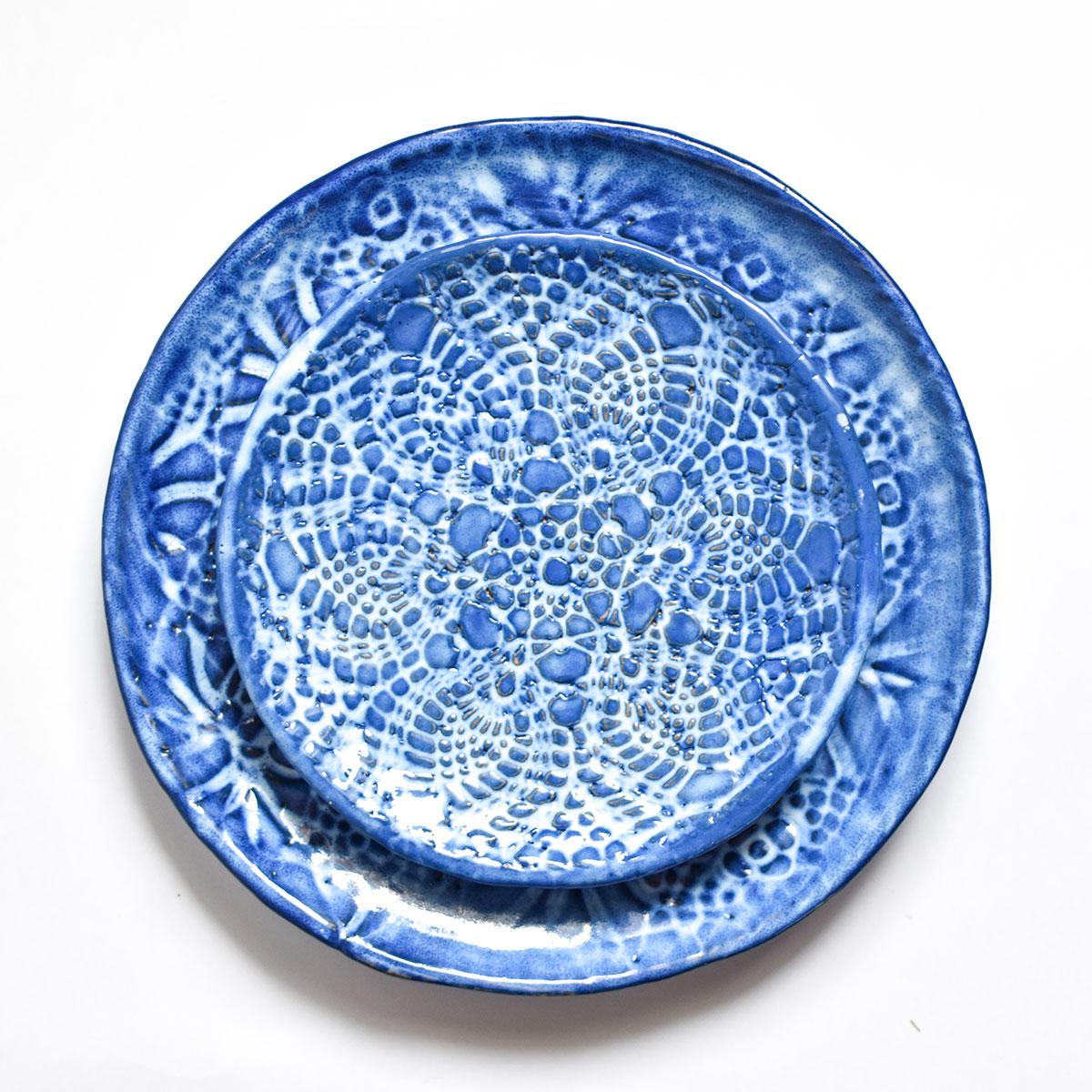 """картинка Кружевное блюдце ручной работы """"Морозные узоры"""" 1 - DishWishes.Ru"""