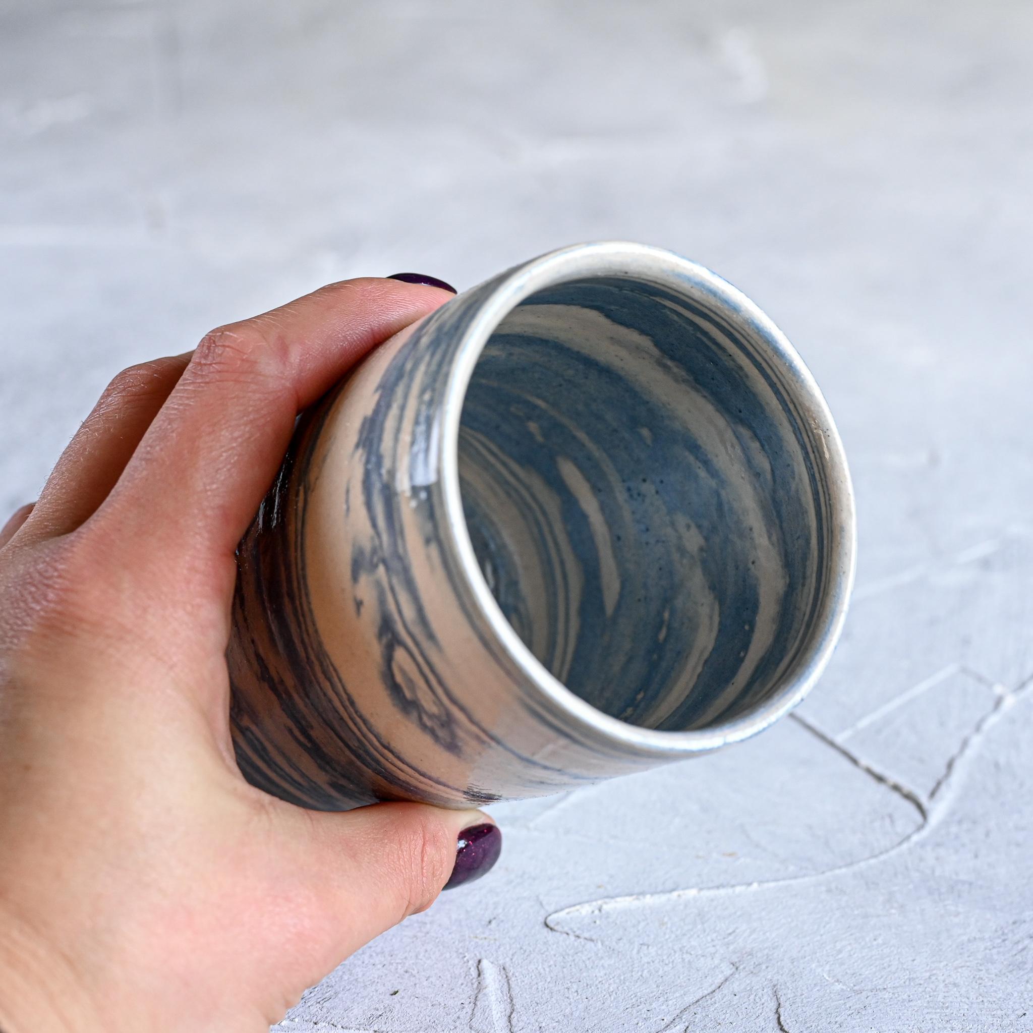 картинка Керамический стакан в технике нерияге 4 - DishWishes.Ru