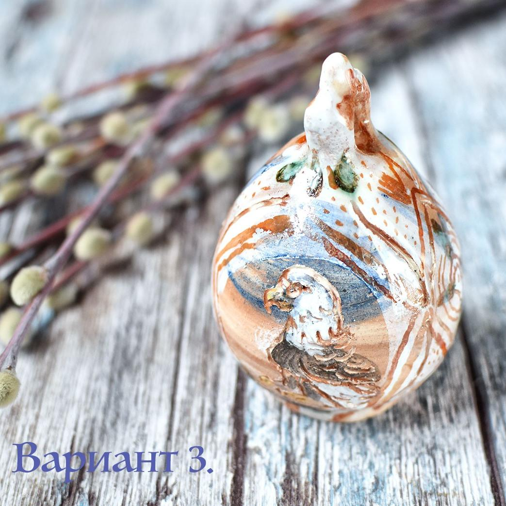 картинка Керамическое яйцо ручной работы - DishWishes.Ru