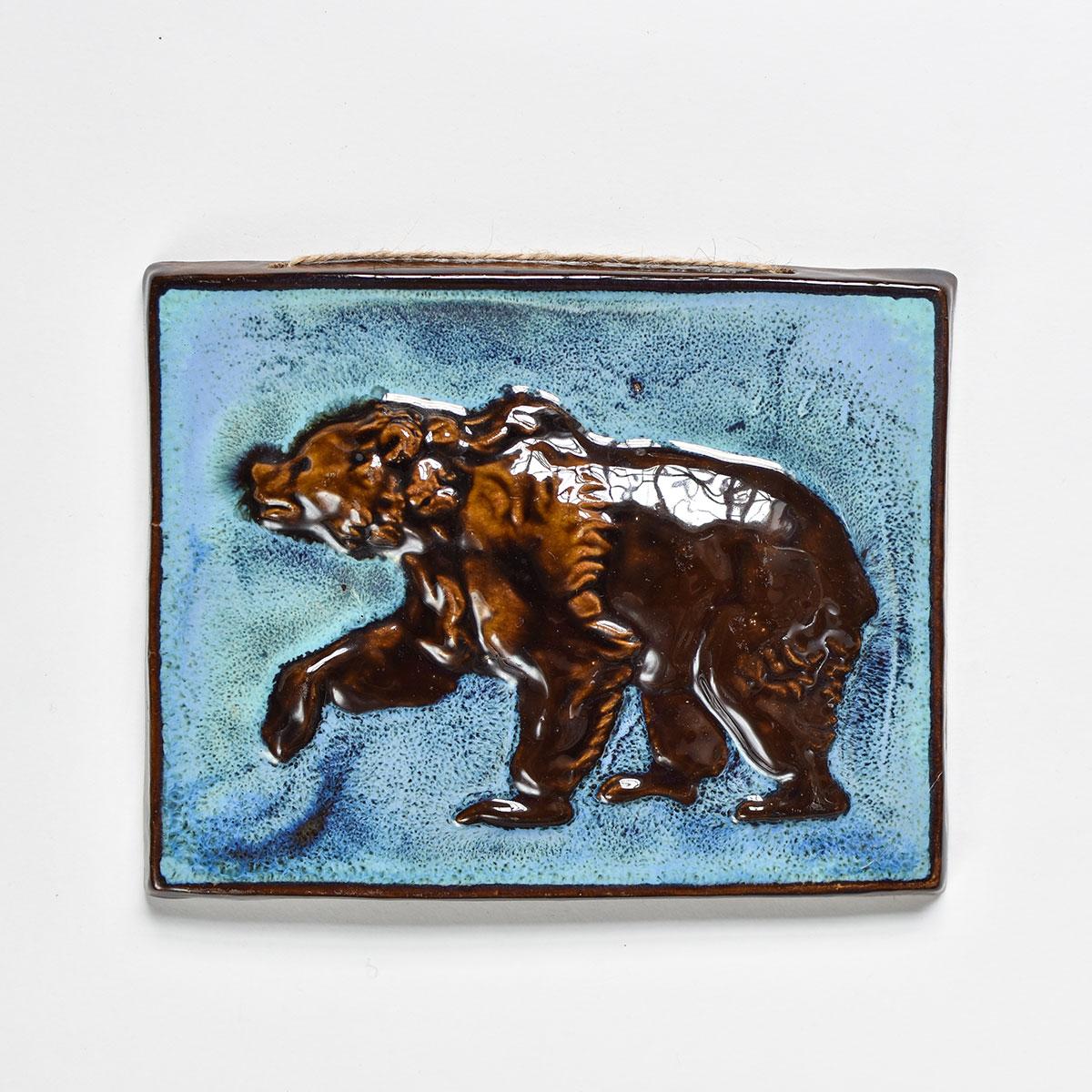 """картинка Изразец ручной работы """"Медведь"""" - DishWishes.Ru"""