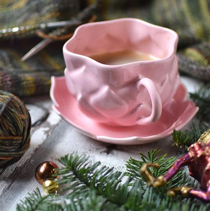 "картинка Чайная пара ""Розовый лотос"" - DishWishes.Ru"