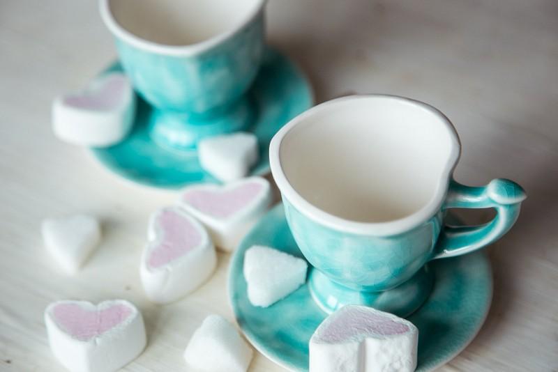 """картинка Кофейная пара """"Сердце"""" - DishWishes.Ru"""