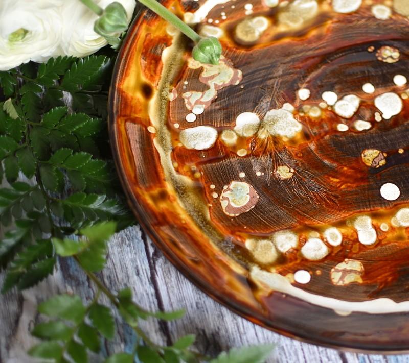 """картинка Большая керамическая тарелка """"Коньяк"""" - DishWishes.Ru"""