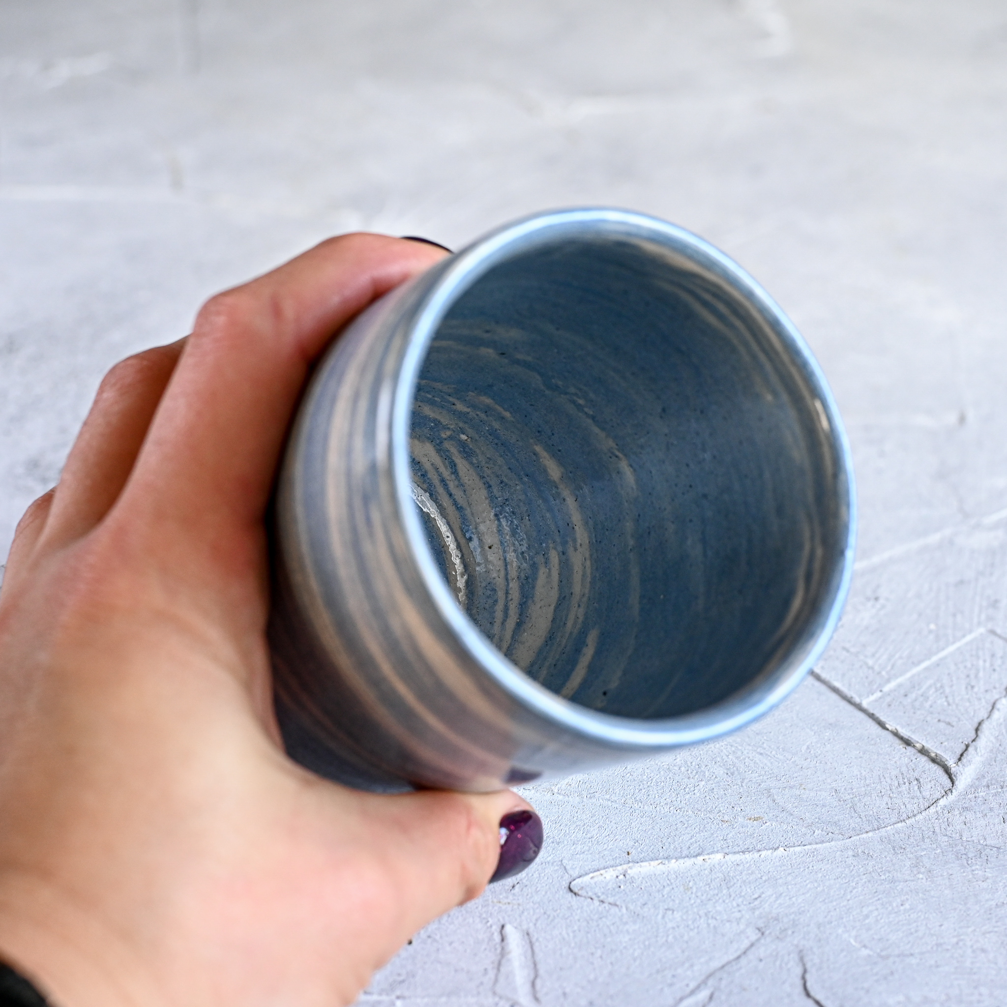 картинка Керамический стакан в технике нерияге 5 - DishWishes.Ru