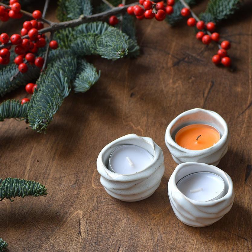 """картинка Маленький подсвечник для греющей свечи """"Белый"""" - DishWishes.Ru"""