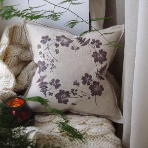Отпечатки растений на текстиле