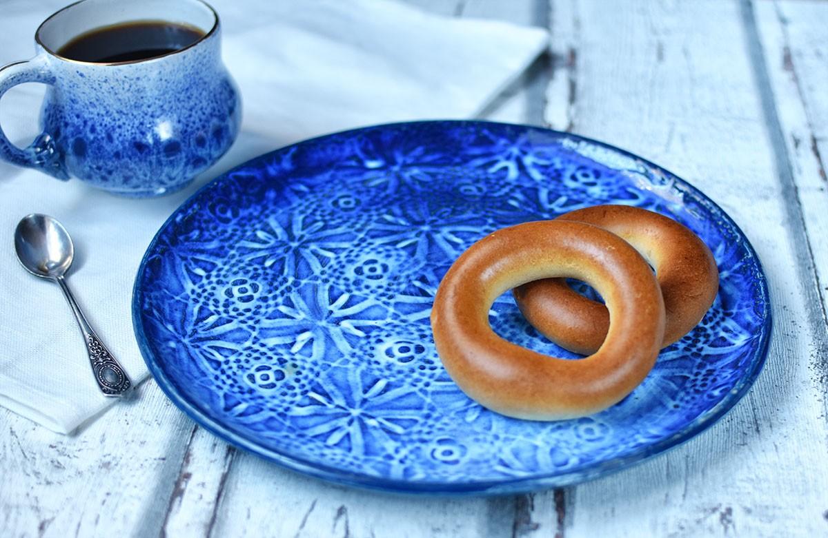"""картинка Кружевное блюдо ручной работы """"Вечер"""" - DishWishes.Ru"""