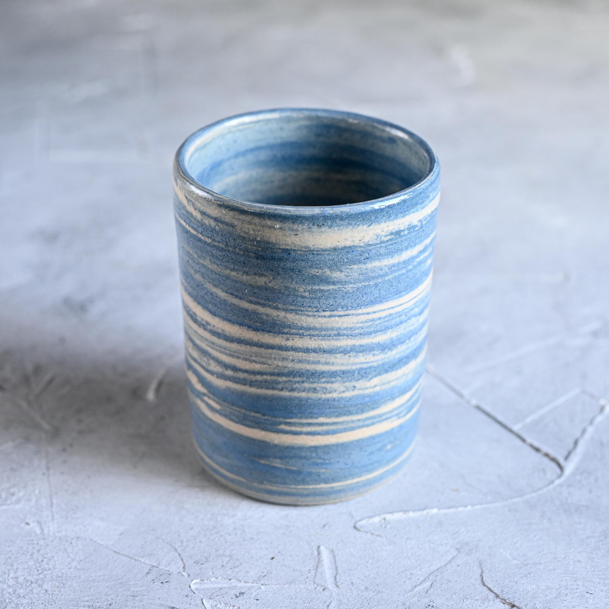 картинка Керамический стакан в технике нерияге 8 - DishWishes.Ru