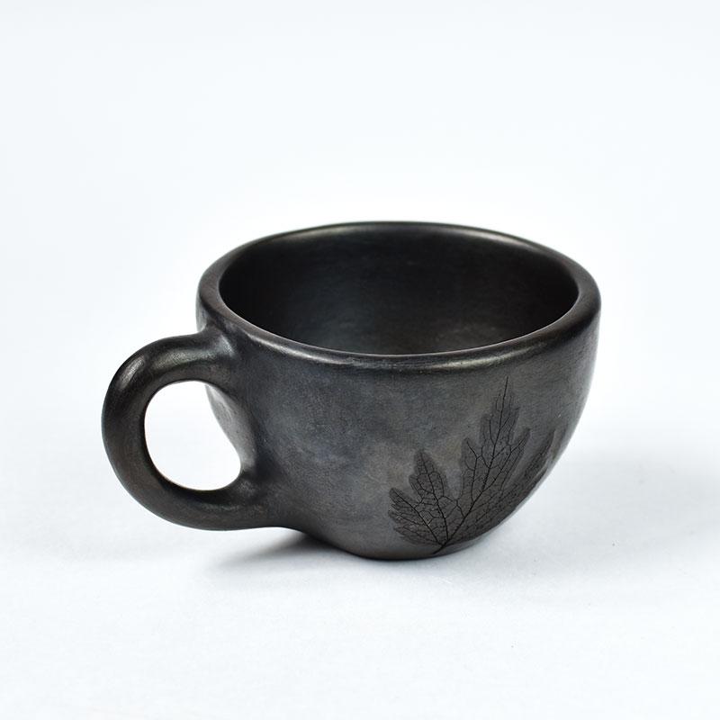 картинка Чернолощеная кофейная чашка  - DishWishes.Ru
