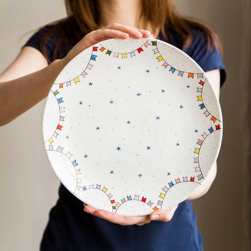 """картинка Большое керамическое блюдо """"Праздничное"""" - DishWishes.Ru"""