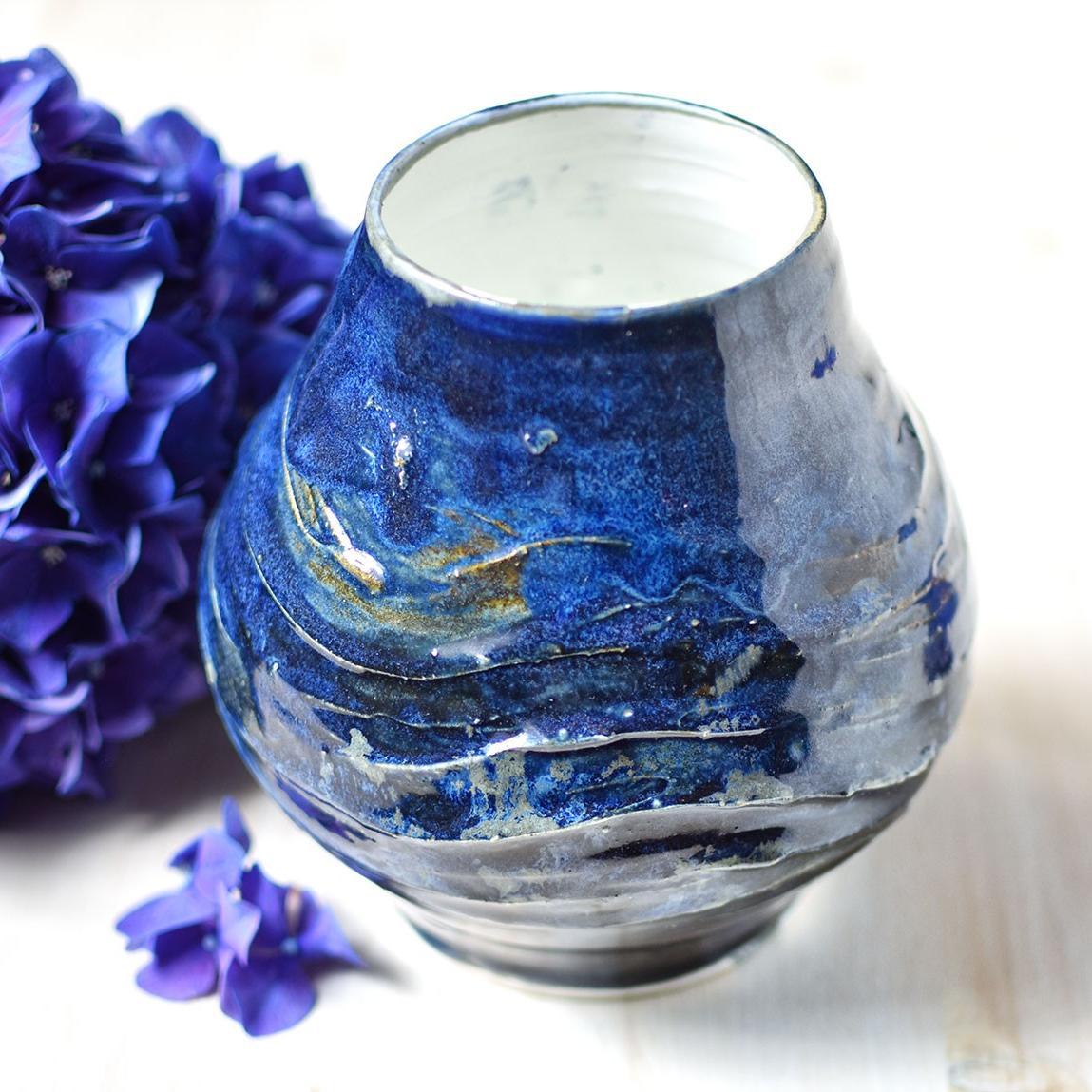 "картинка Керамическая ваза ""Синий океан"" - DishWishes.Ru"