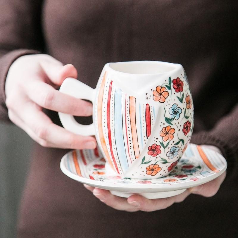 """картинка Чайная пара """"Цветочная поляна"""" - DishWishes.Ru"""