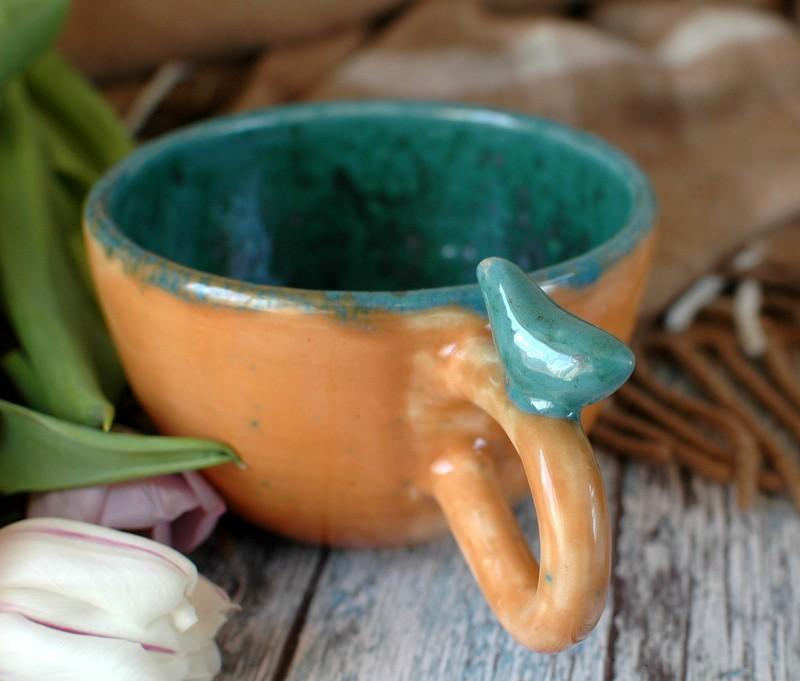 """картинка Чашка с птичкой """"Тайны леса"""" - DishWishes.Ru"""