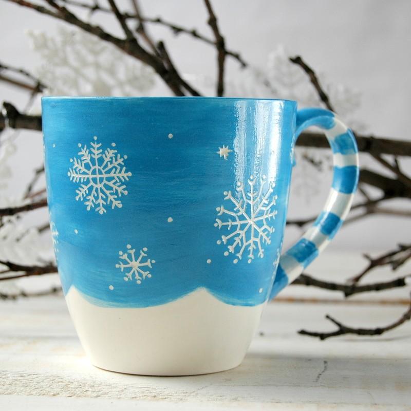 картинка Зимняя чашка - DishWishes.Ru